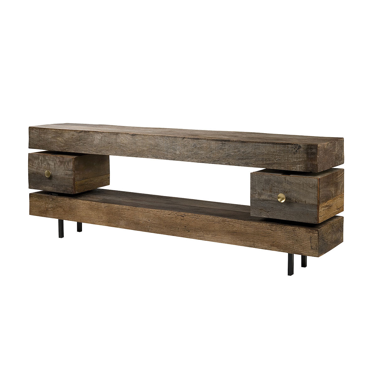 Reclaimed Wood Rustic Bina Dillon Console Table With