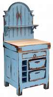 French Butcher Block Hutch