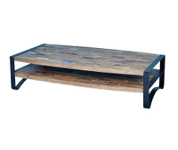 Bowfront Rectangular Coffee Table 55""