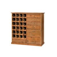 Reclaimed Pine Wine Cabinet