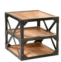 Industrial Reclaimed Side Table