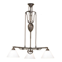 Craftsman 3 Light in Aged Brass