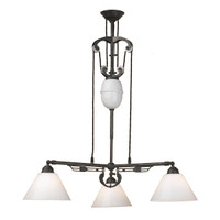 Craftsman 3-Light in Black Iron