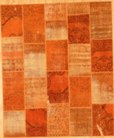 Turkish Patchwork Rugs- Orange