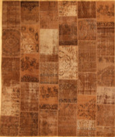 Turkish Patchwork Rugs- Chestnut