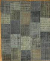Turkish Patchwork Rugs- Vintage Cool Blue