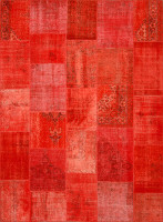 Turkish Patchwork Rugs- Red