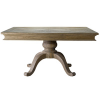 Geneva 59&quot; Square Oak Dining Table