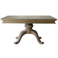 """Geneva 59"""" Square Oak Dining Table"""