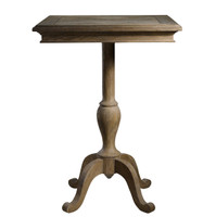 Geneva Square Oak Wood Pedestal Kitchen Bar Table 30""