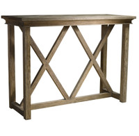 Geneva Trestle Bar High Kitchen Table Island