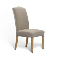 Camelback Side Chair-Linen