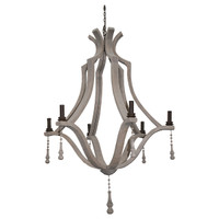 "Bordeaux 39"" Wine Barrel Chandelier"