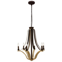 "Bordeaux 29"" Wine Barrel Chandelier"