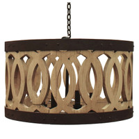 "Bordeaux 26"" Wine Barrel Drum Chandelier"