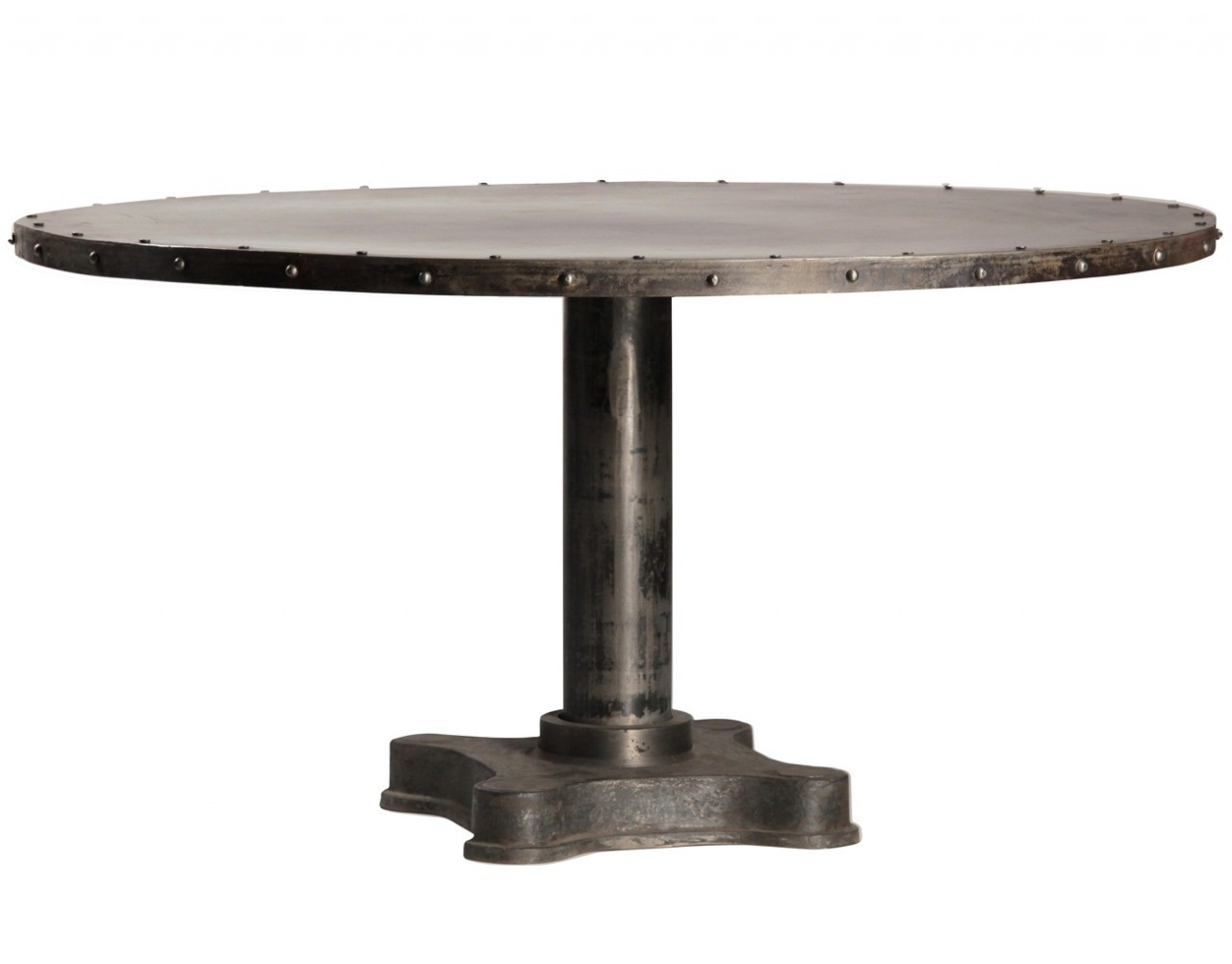 60 round dining table casual cottage - Industrial kitchen tables ...