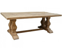 Trestle Salvaged Wood Dining Table 87&quot;