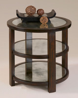 Monteith Round Mirrored Side Table