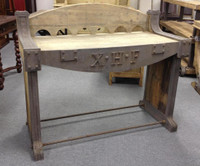 Industrial Work Table with Roman Numerals