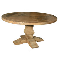 "Pedestal 60"" Round Dining Table"