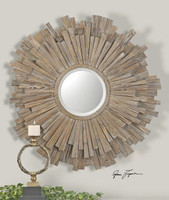 Vermundo Driftwood Round Mirror