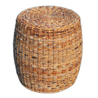 Lanai Banana Leaf  Woven Side Table