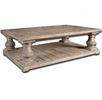 rustic wood coffee table