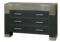 Razi Industrial Metal 3 Drawer Dresser