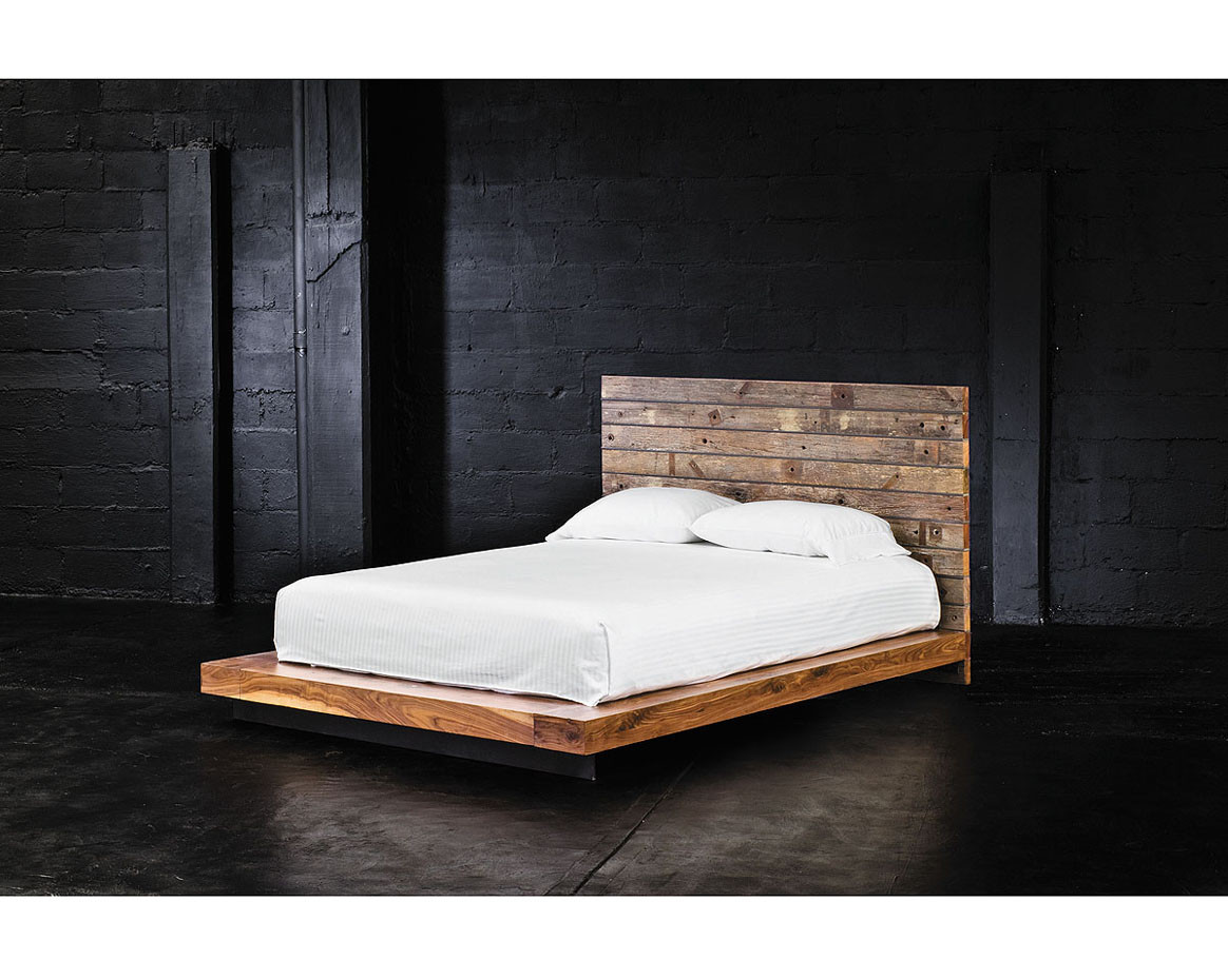 Home FURNITURE Bedroom Grant Reclaimed Wood King Platform Bed