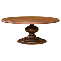 "76"" Round Pedestal Dining Table-Cocoa"
