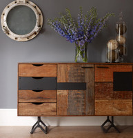Rustic Reclaimed Wood Bina  Gonzo Console