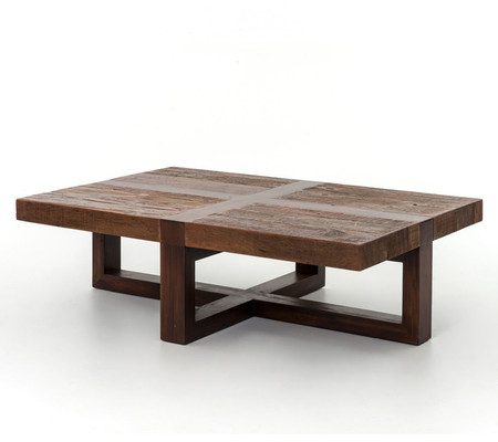 Bryan coffee table reclaimed wooden rustic coctail table zin home