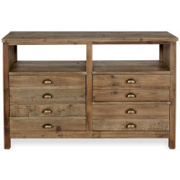 Elegant Reclaimed Pine Media Console