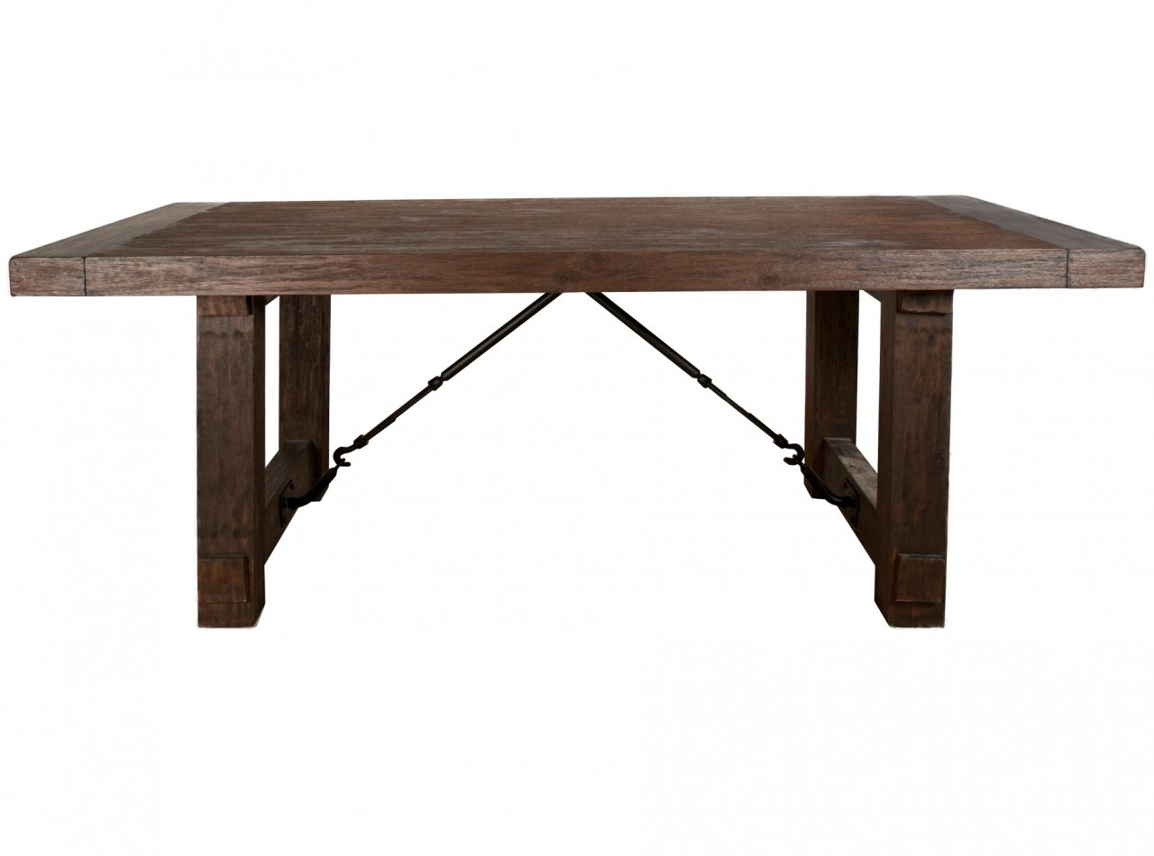 Carter extension dining table 85 117 zin home for Extension dining table