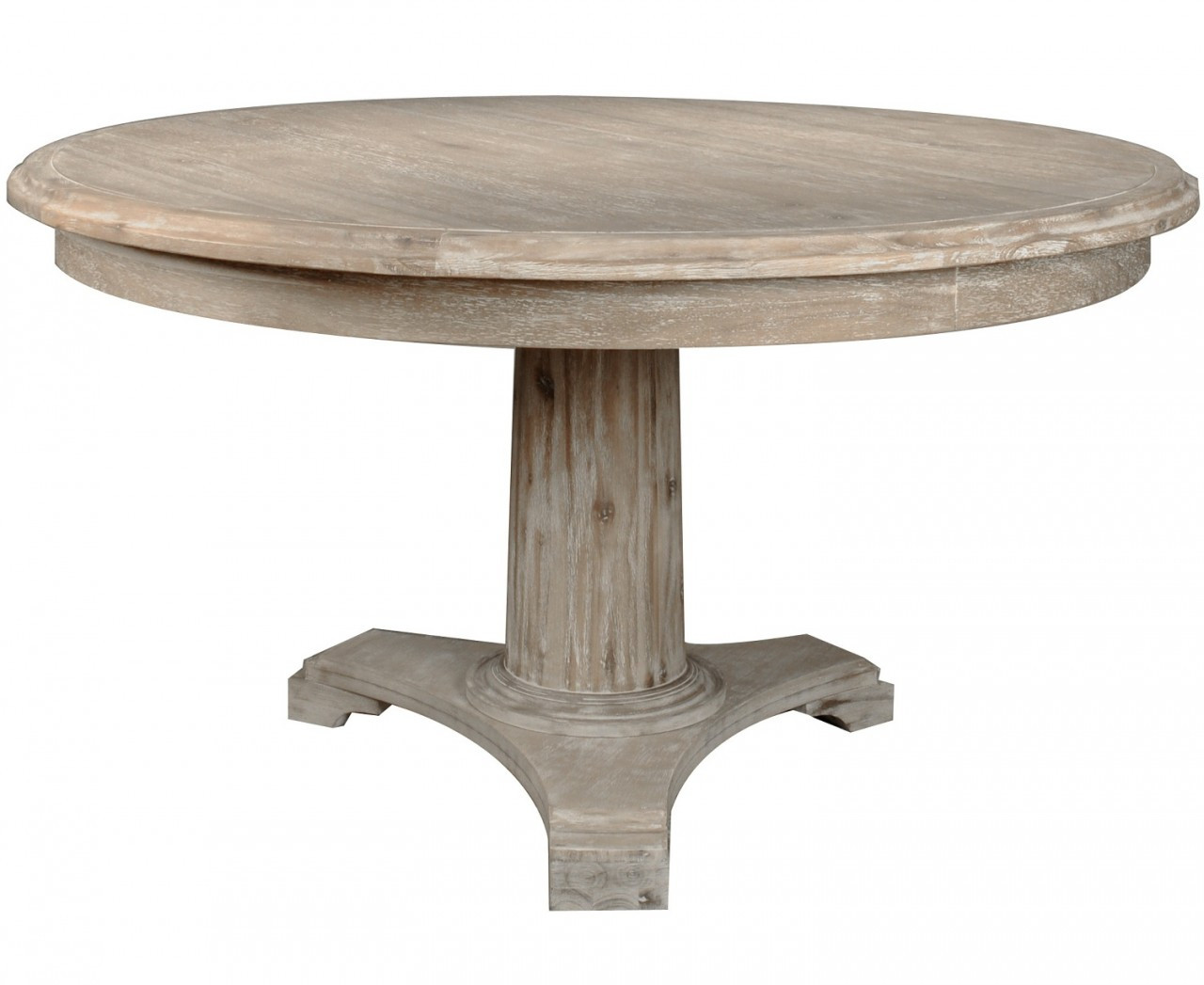Belmont round dining table 54 round column pedestal for Dining room table pedestal bases