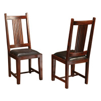 Provence Dining Chair Leather Seat