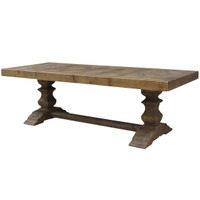 English Castle Dining Trestle Table 98&quot;