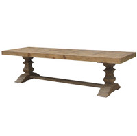 English Castle Dining Trestle Table 118&quot;