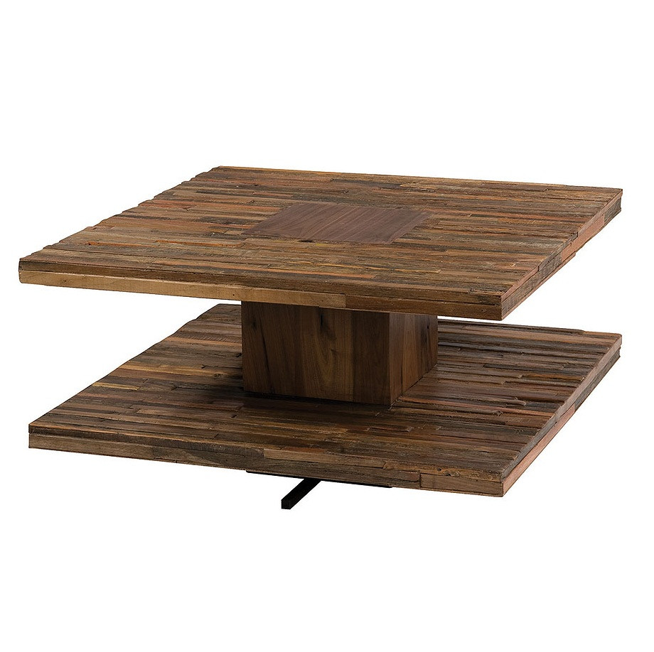 Parker Square Coffee Table 30 Bina Contemporary Reclaimed Wood Cocktail Tables Zin Home