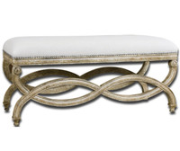 Karline Linen Bench 42""