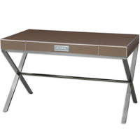 Cathy Bronze Mirrored Vanity Desk