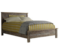 Hampton Rustic Teak wood queen bed frame