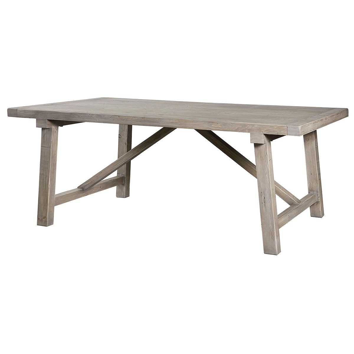 Farmhouse Reclaimed Wood Dining Table Wooden Truss Dining Table 37230