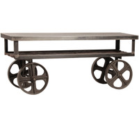 Industrial Rolling Media Console