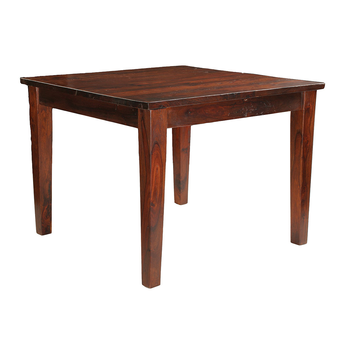Square Dining Table 40 39 39 Solid Wood Top Rustic Kitchen Table