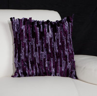 Velour Bamboo Pillow-Purple