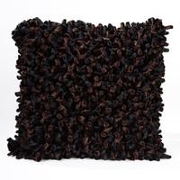 Velour Loop Pillow Black and Brown
