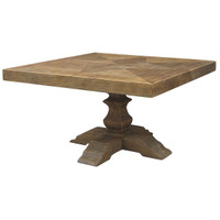 English Castle Trestle Square Table 55""