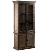 Parisian Oak Cabinet & Hutch