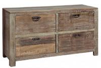 Hampton reclaimed teak wood 4 Drawer Dresser